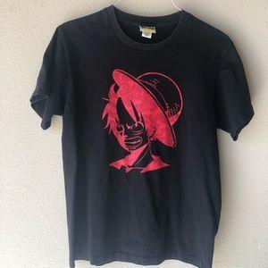 Bape x luffy one piece anime men shirt rare